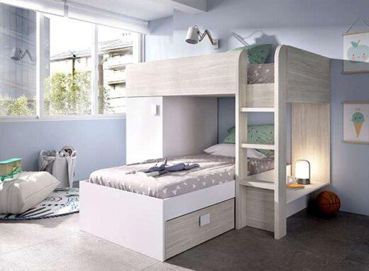 habitacion-juvenil-completa-con-litera-blanca-y-gris-y-almacenaje