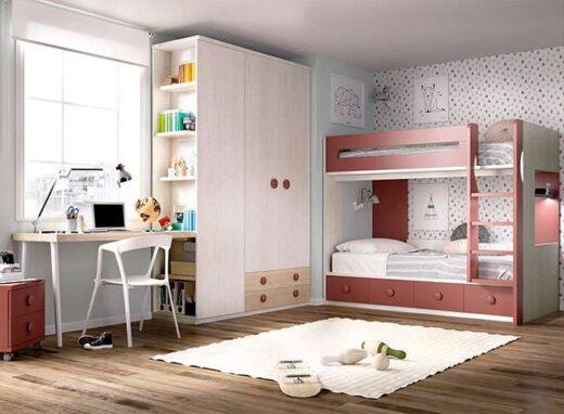 habitacion-juvenil-completa-con-litera-gris-teja
