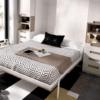 habitación-juvenil-con-cama-abatible-de-matrimonio-armario-y-cajonera-gris