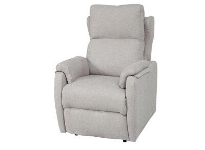 Sillón relax manual tapizado en tela color gris