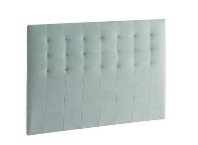 Cabecero de cama tapizado para dormitorio de matrimonio verde