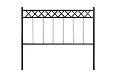 Cabecero de forja para dormitorio estilo rústico disponible en blanco y negro
