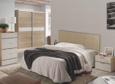 Cabecero dormitorio matrimonio tapizado en polipiel varios colores a elegir