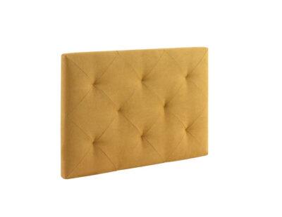 Cabecero tapizado en tela o polipiel beige disponible en varios colores