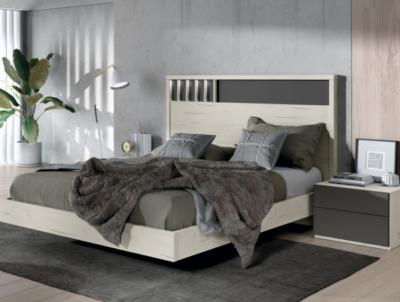 Conjunto dormitorio matrimonio con cabecero y mesitas con luces LED