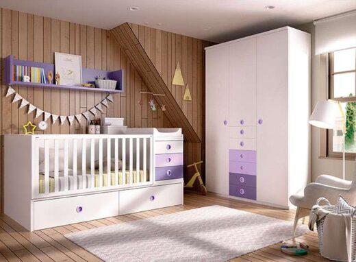 habitacion-infantil-completa-con-cuna-convertible-armario-con-cajones-y-estanteria-006joh5101