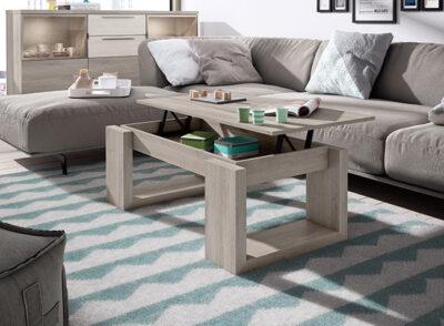 Mesa de centro estilo nórdico elevable disponible en varios colores