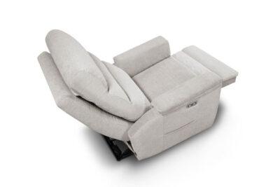 Sillón relax manual con palanca lateral gris
