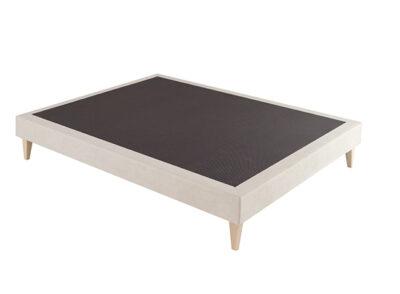 Base cama tapizada en tela o polipiel
