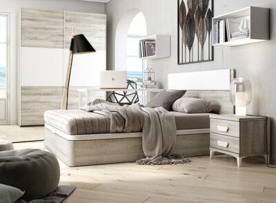 Cabecero cama 135 con mesita para habitación juvenil