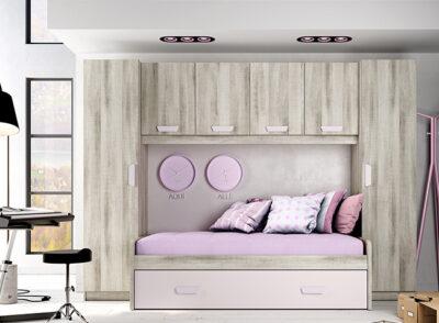 Cama nido habitación juvenil 90×190 cm