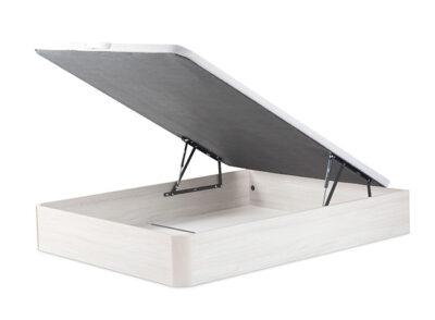 Canapé abatible blanco con sistema hidráulico