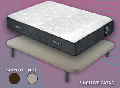 Colchón más base tapizada con patas