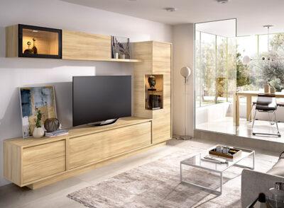 Conjunto mueble TV y aparador con módulo colgante varios colores a elegir