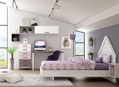 Estructura cama niña o niño cabecero casita