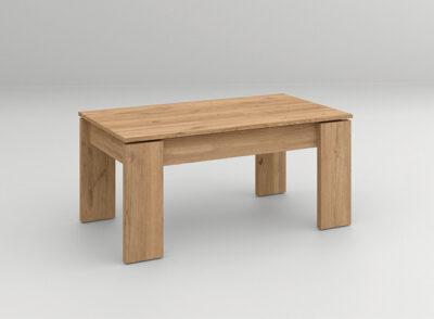Mesa baja elevable de madera para salón