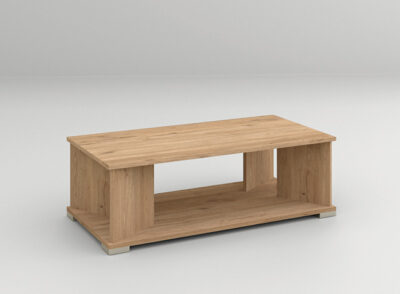 Mesa para sofá acabado madera con patas rectas