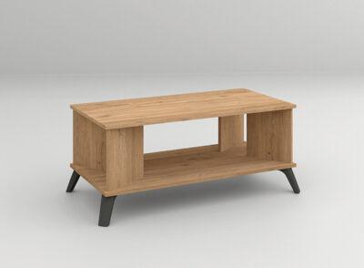 Mesa salón madera con patas negras