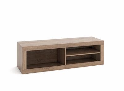 Mueble televisión estilo nórdico blanco y madera