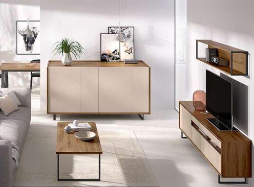 mueble-tv-madera-oscura-y-arena-y-estanteria-de-pared-006duo31