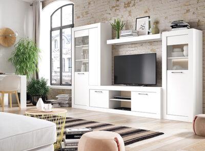 Muebles de salón blancos modulares