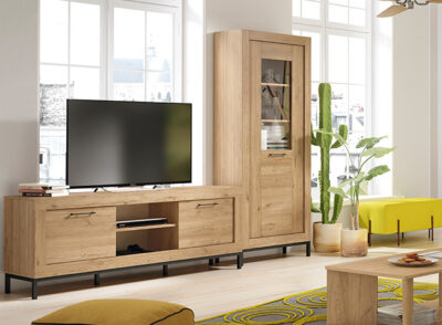 Muebles modulares salón madera estilo moderno