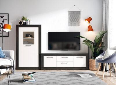 Muebles para salón blanco y negro