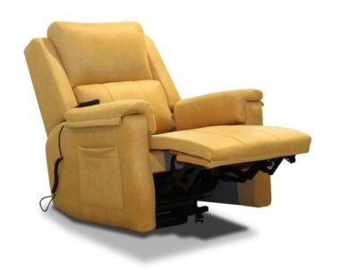 Sillón amarillo relax eléctrico Powerlift