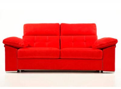 Sofá cama color rojo dos plazas