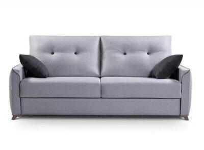 Sofá cama gris claro de matrimonio