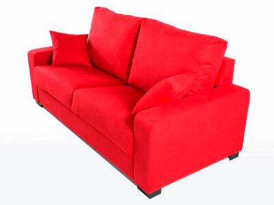 Sofá cama rojo doble con sistema italiano