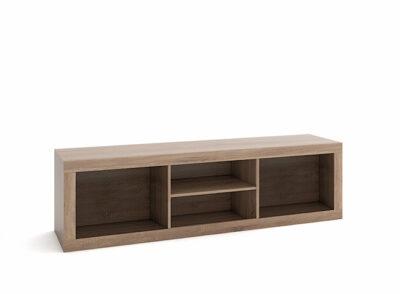 Soporte para TV mueble para salones madera oscura y blanco