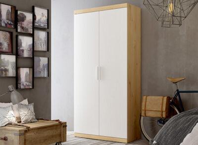 Armario 100 cm ancho con 2 puertas blanco