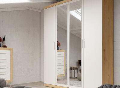 Armario 4 puertas con espejo