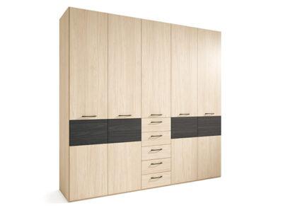 Armario 5 puertas y 5 cajones color madera