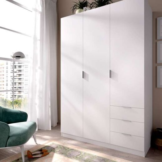 armario-blanco-mate-con-3-puertas-y-cajones-006dk12843-00