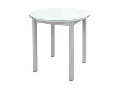 Mesa alta redonda cocina blanca