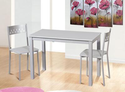 Mesa cocina 110 x 55 cm de aluminio 032ME779