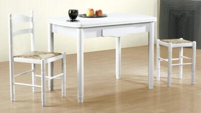Mesa cocina blanca extensible o fija