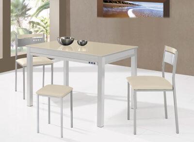 Mesa cocina con cubertero 100×60 fija varios colores disponibles