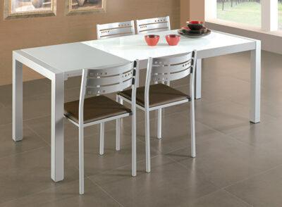 Mesa cocina cristal extensible varios colores a elegir