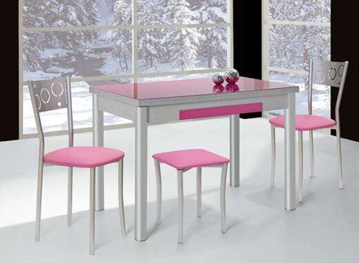 mesa-cocina-fucsia-extensible-con-cajon-cubertero-032me91101