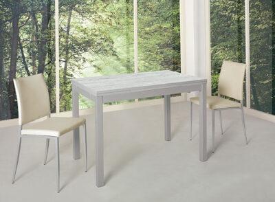 Mesa cocina gris aluminio extensible 032ME7530