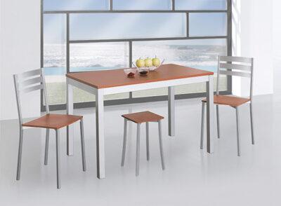 Mesa cocina moderna con patas de aluminio