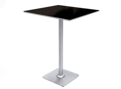 Mesa cocina pata central alta tipo velador color negro