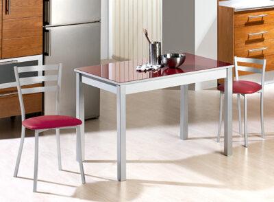 Mesa de cocina 100×60 color rojo