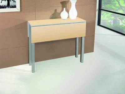 Mesa de cocina extensible con alas abatibles patas de aluminio