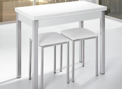 Mesa de cocina plegable tipo libro color blanco