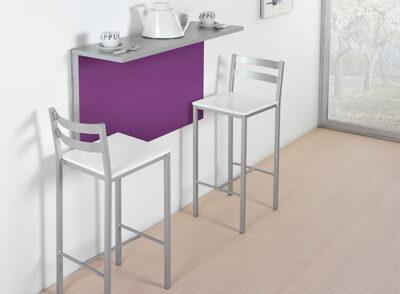 Mesa de pared cocina abatible dos posiciones