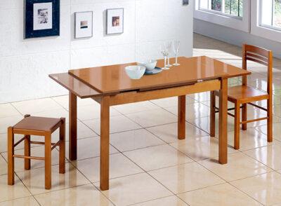Mesa madera cocina extensible 110×70 cm